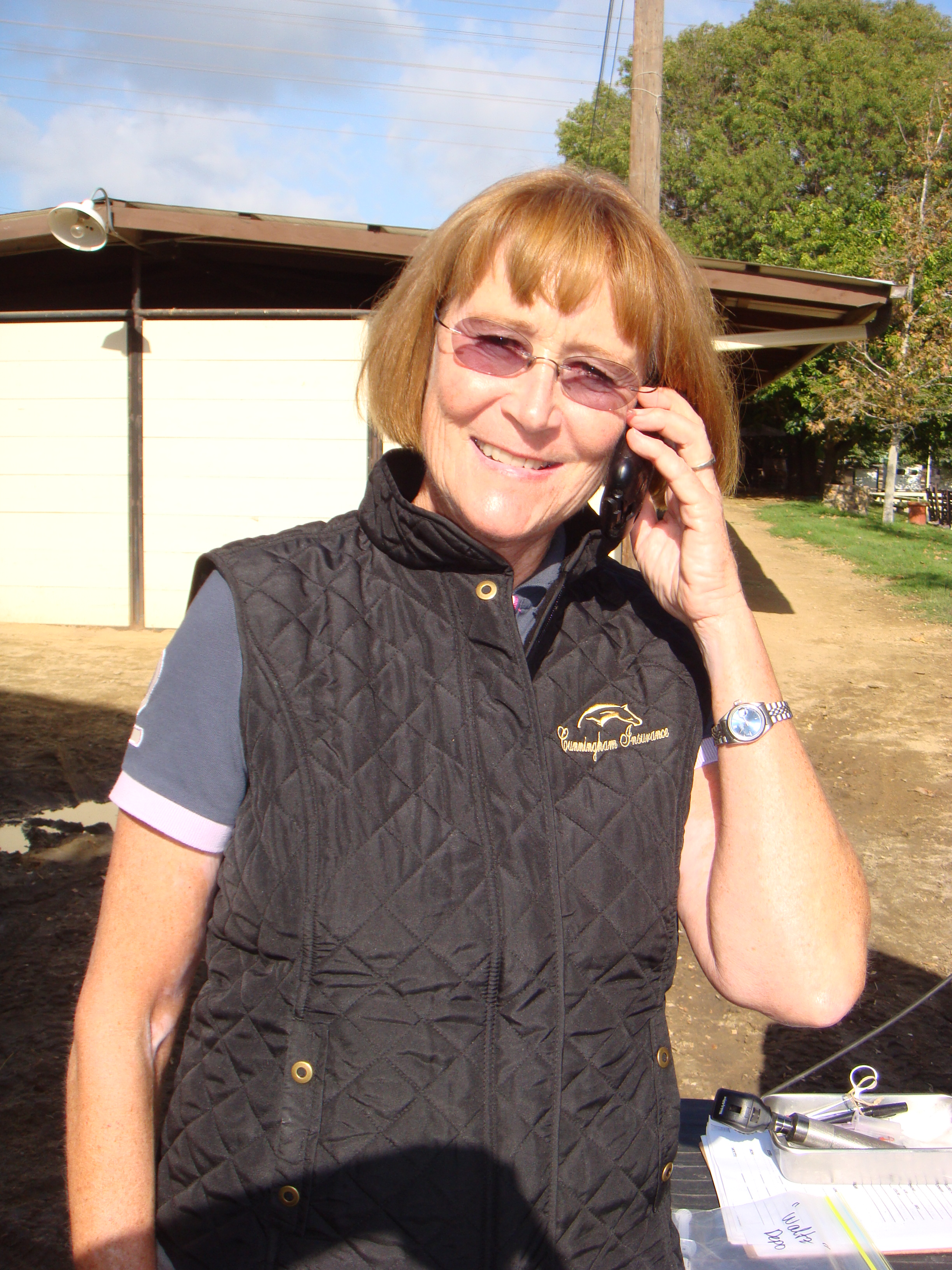 Anne on phone